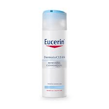 Eucerin DermatoCLEAN Refreshing Cleansing Gel is most clean facial cleanser in the morning in KL
