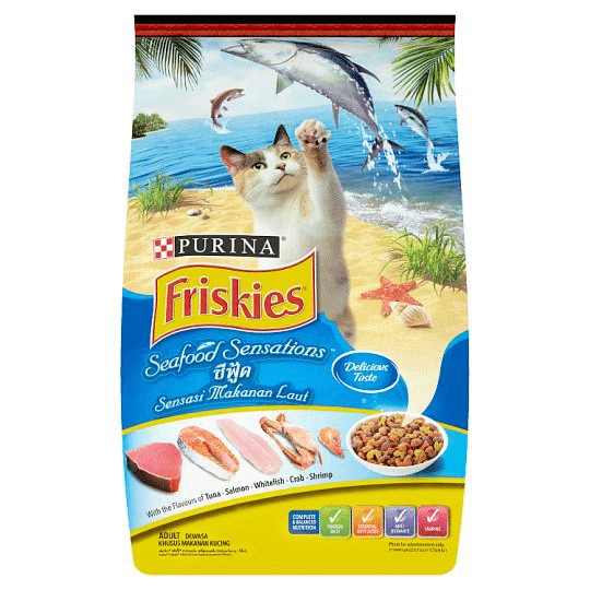 Best Cheap Wet Cat Food in Malaysia is Purina Friskies Seafood Sensations Dry Cat Food. good for Persian. cheap and budget for cat owners with tight budget. provide wholesome yet inexpensive meal for your cat. you can stay hungry but your cat cannot.