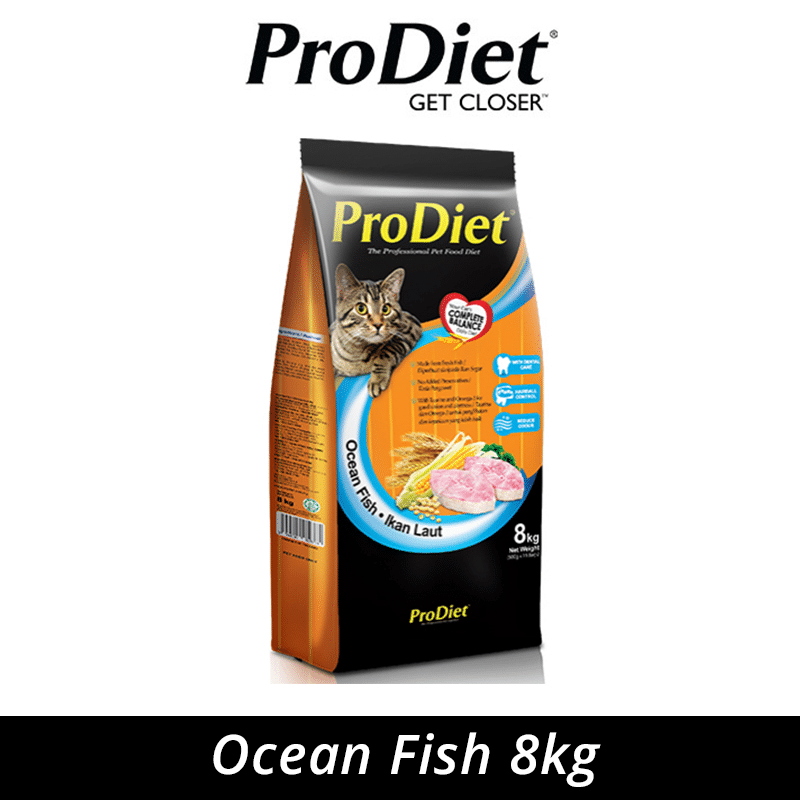 Best Dry Cat Food in malaysia is ProDiet 8kg Ocean Fish Dry Cat Food (500G Inner Packs). good for Maine Coon
