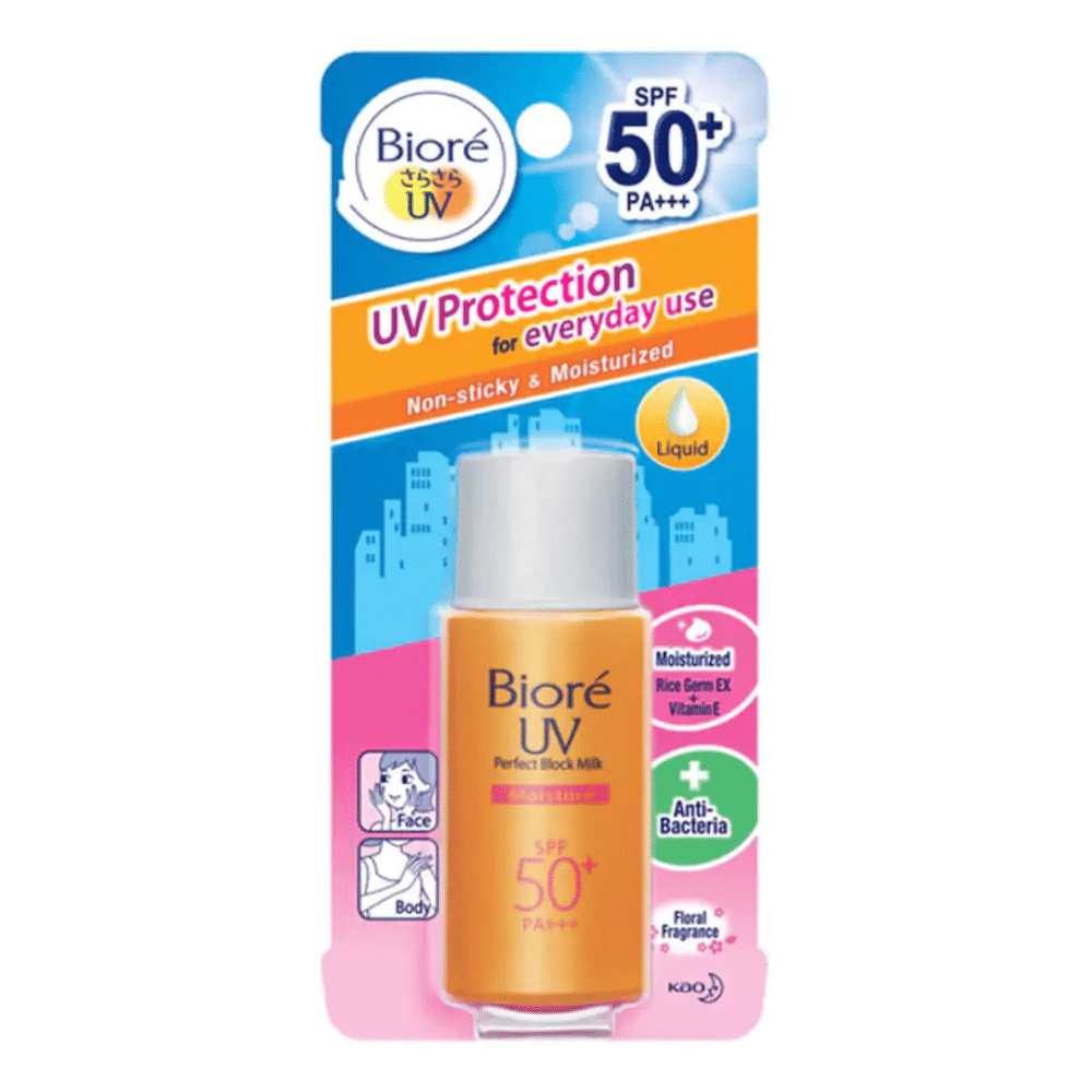 Biore UV Perfect Block Milk Moisture. my face is working outdoor most of the time which skin care product is best suitable for me. where to find the best facial cleaner in malaysia. Kuala lumpur