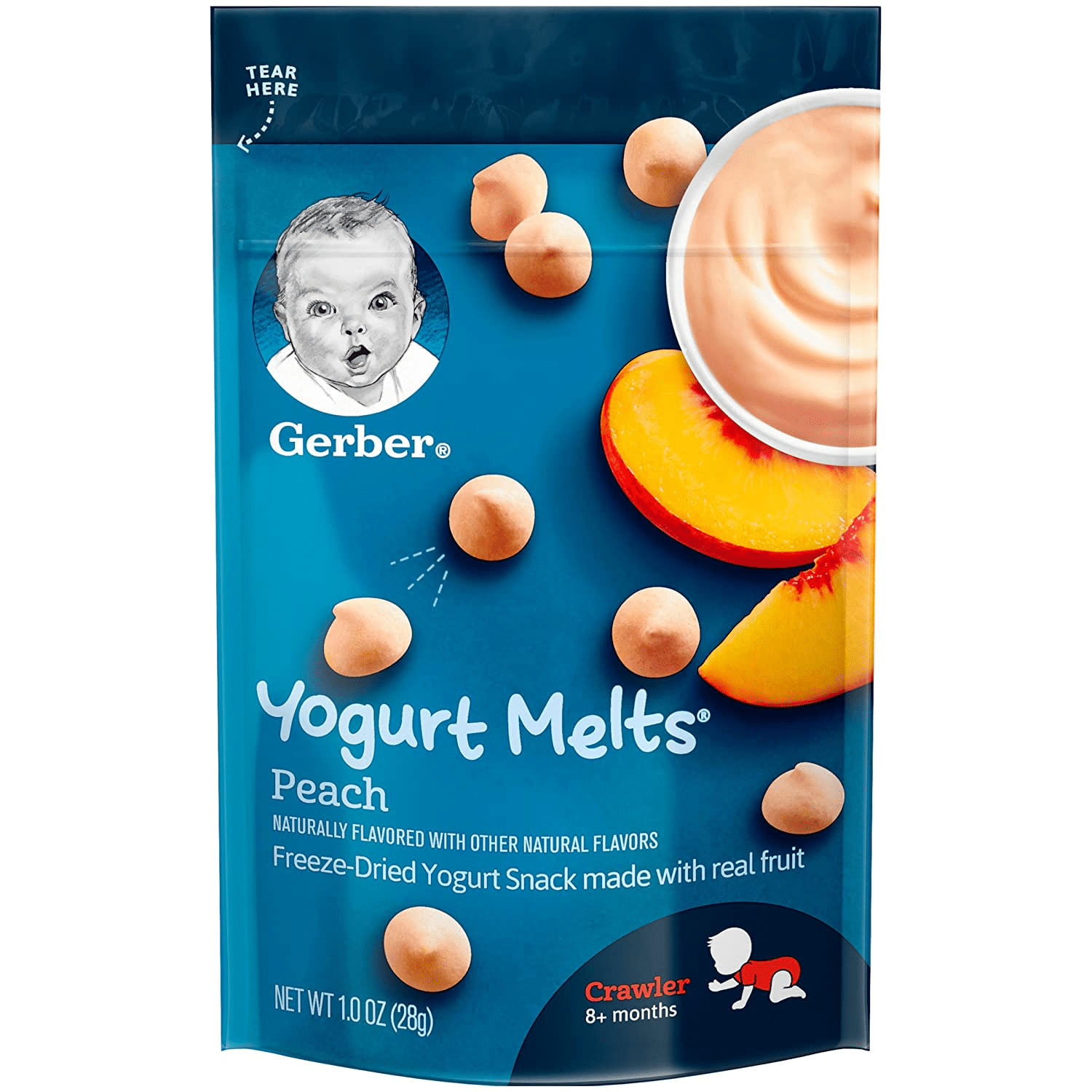 Gerber Yogurt Melts - Peach is Best Yogurt melts for infants in Malaysia. brand with baby face