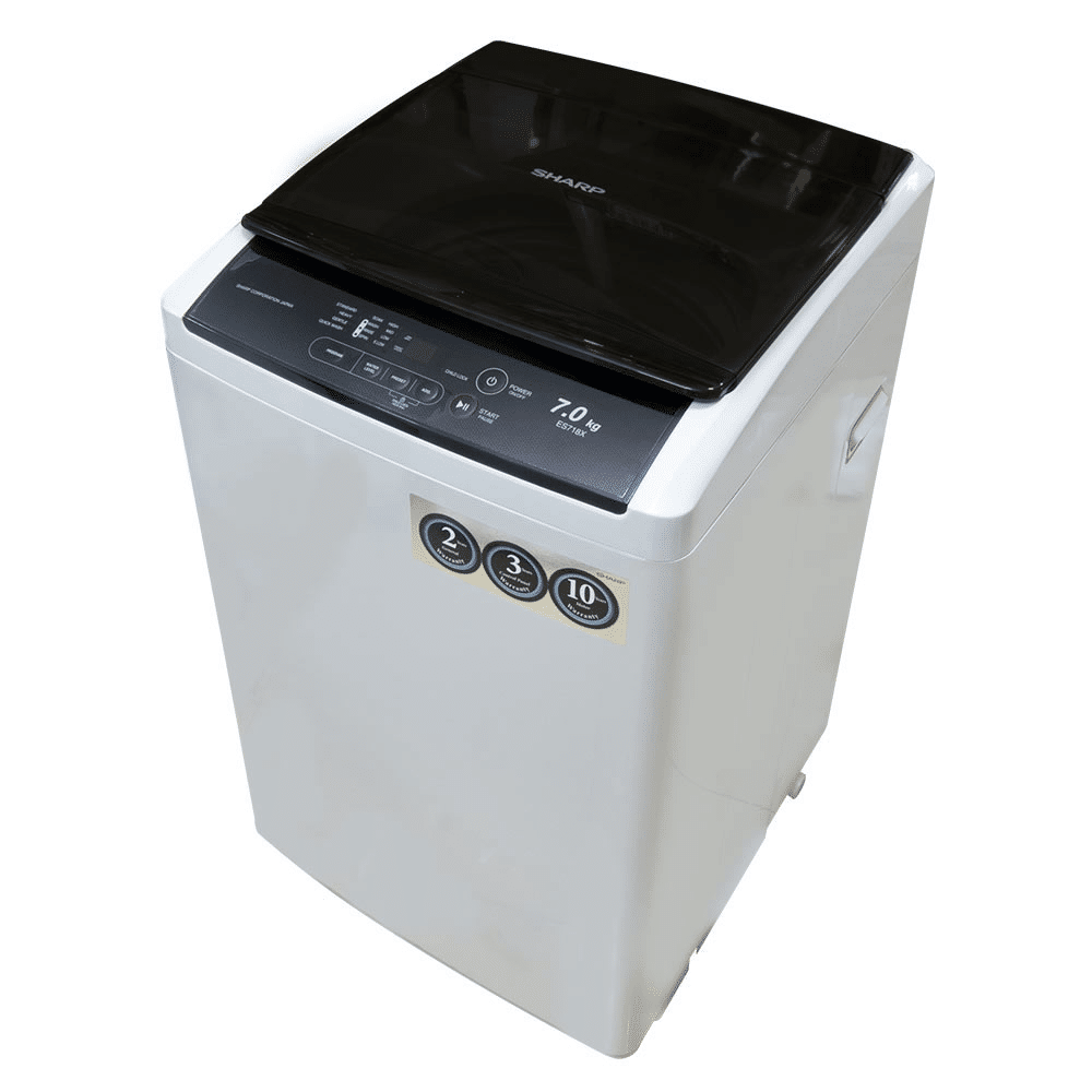 Sharp 7kg Top Load Fully Auto Washing Machine ES718X. what is Latest washing machines Price in Malaysia