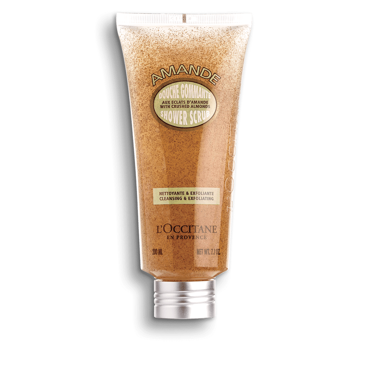 L'Occitane Almond Shower Body Scrub is 14 Best Body Exfoliators for Smooth Skin
