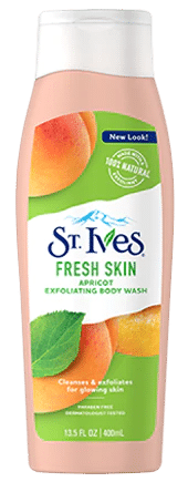 St. Ives Apricot Exfoliating Body Wash & Scrub is 14 Best Body Scrubs for Soft, Glowing Skin - Top Body Exfoliators