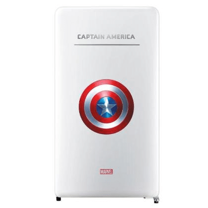 Daewoo Limited Edition Marvel Series 125L Classic Fridge (Captain America) FN-M125CA is best limited edition fridge in Malaysia