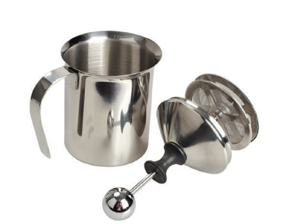 AKIRO 400mL Stainless Steel Hand Pump Milk Frother Pitcher is the best milk frother for home use