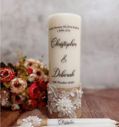 Candlelit Malaysia Custom Printed Candles is the Top 7 Popular Wedding Doorgifts You Can Buy in Malaysia