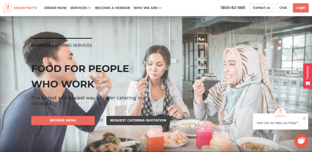 Smartbite is 12 Best Food Delivery Services You Must Try in Malaysia for this year 2021 2022 2023