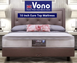 Vono Spine Pro Single Mattress is the best budget Mattresses for the Best Prices in Malaysia,  Vono Mattress Spinal Care Luxury uses the Intalok Springing System which reduces the body movement.