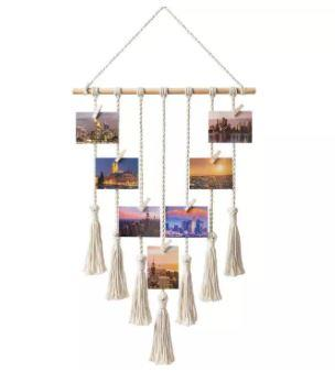 What is a unique birthday gift? Macrame Hanging Photo Display is a unique birthday gift for your bestie. there will be many photos of you and him/her frolicking around and they are perfect memories to keep and look at many years later