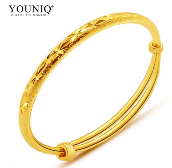 YOUNIQ Premium Slim 24K Gold Plated Bangle Set is Top 6 Online Stores for Cheap Gold Bracelets in Malaysia, Why do people wear jewelry?, wearing jewelry can show off your personality, its a way for man and woman, for hari raya, Deepavali, Puthandu Tamil New Year