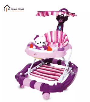 Alpha Living Multifunctional Baby Walker with Detachable Roof is the top 10 Best-Selling Baby Walkers in Malaysia, Folding Baby Walker Travel Compact Fold Portable Walker