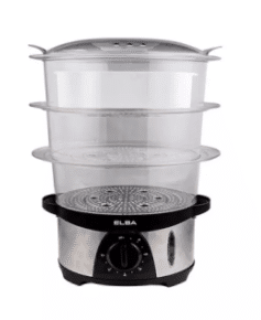 Elba Food Steamer is 10 best Food Steamers in Malaysia For Healthy Meals, How do I choose a food steamer?, if possible get one with visible water gauge so that you can see clearly the volume of water in the tank, water has to be top up as steam is lost thru evaporation during cooking process