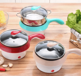Itata Electric Steamer Pot is Best Multi-Purpose steamer Malaysia, transparent cover with hook handle, colorful and appetizing, 4 amazing functions in one