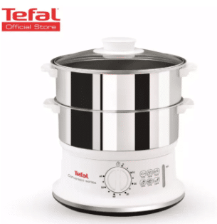 Tefal Convenient Stainless Steel Steamer is the Top 10 Best Food Steamers in Malaysia, Is stainless steel safe for steaming? rust resistant and strong lasting, stainless steel is perfect for cooking.