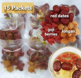 Goji Berry Longan Red Dates Drink Tea is a good traditional chinese Milk Boosters in Malaysia 2021 2022 2023, longans or jujubes can help to replenish and nourish blood improving blood circulation for mothers after giving birth. this help protect liver health and improve poor digestion, better liver and digestive function, ground heal and balance the inner body qi in TCM and Boost the Immune System of the mother.