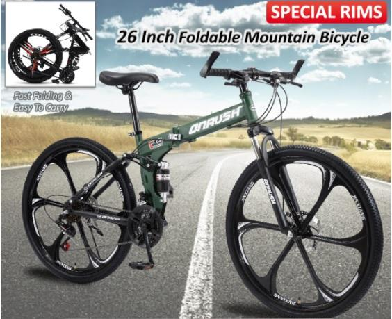 """SOKANO OnRush 26"""" Foldable Mountain Bicycle Where to Buy a Bicycle in Malaysia, Guide to the Best Bike, giant bicycle Malaysia, online bicycle shop Malaysia, hybrid bike Malaysia, aleoca bicycle, best bicycle brands, hello bicycle, trek bikes Malaysia, polygon bikes Malaysia"""