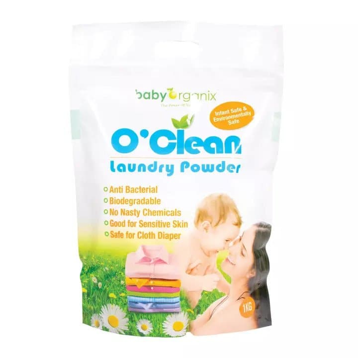 Baby Organix O'Clean Laundry Powder 1kg Safest For Your Baby, 10 Best Laundry Detergents For Fresh Smelling Clothes, 10 Best Baby-Safe Laundry Detergents this year, top 10 for top load washing machine