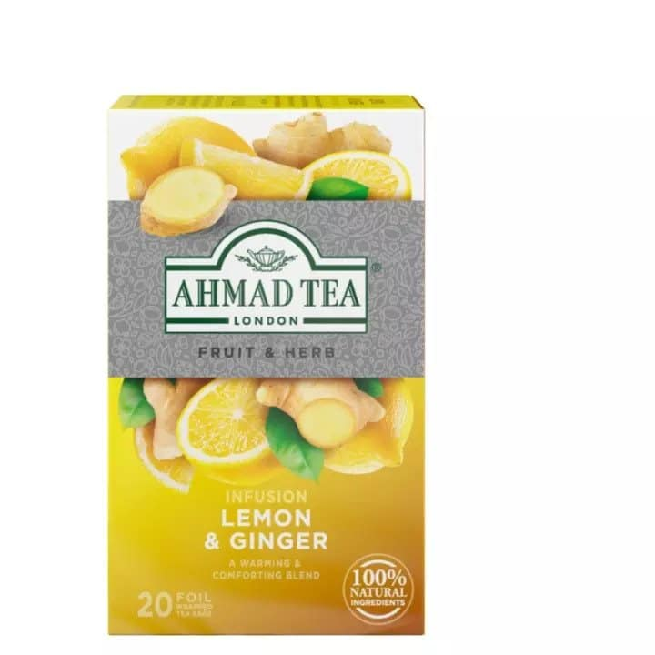 What to Buy for Home Quarantine During the Coronavirus, Ahmad Tea Lemon & Ginger (20 Teabags), covid-19 essentials store, COVID essentials list, What is lemon and ginger tea good for?, Is it okay to drink lemon ginger tea everyday?, What are the side effects of lemon and ginger tea?