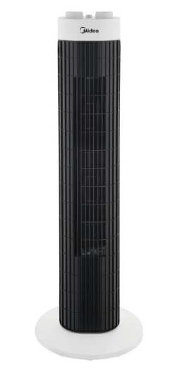 Midea MTF-101K 3 Speed Level Tower Fan is High performing bladeless tower fan in Malaysia, The 10 Best Bladeless Fans to Keep You Cool All day all night Long,