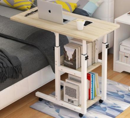 OKURA Movable C Shape Adjustable Height Laptop Table – Best for Bedside Table Replacement is top 10 manual adjustable desk Malaysia, Best Standing Desks for dual monitor,Best Standing Desks for teachers,Best Standing Desks for office for work from home,